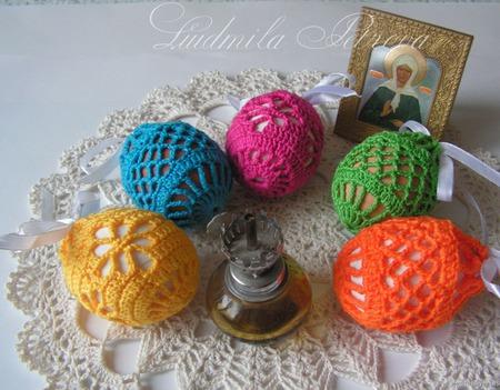 Мешочки для пасхальных яиц вязаные ручной работы на заказ