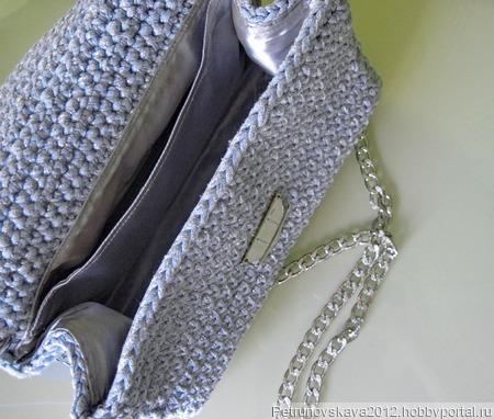 """Сумочка вязаная """"Silver"""" ручной работы на заказ"""