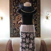 фото: вязаная пляжная юбка
