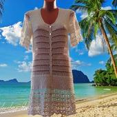 Пляжный халатик вязаный