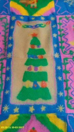 """Детский плед валяный """"Новогодняя сказка"""" ручной работы на заказ"""
