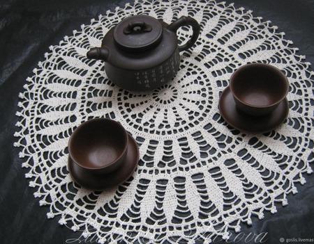 Салфетки для сервировки, декоративные, ажурные ручной работы на заказ
