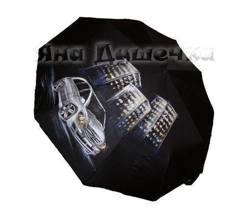 """Зонт с ручной росписью """"Автомобиль  Мерседес"""" по фото заказчика ручной работы на заказ"""