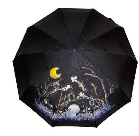 """Зонт с ручной росписью """"Муми тролли"""" ручной работы на заказ"""