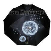 """Зонт с ручной росписью """"Одуванчик"""""""