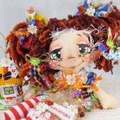 Текстильная кукла Домовушка Лапушка