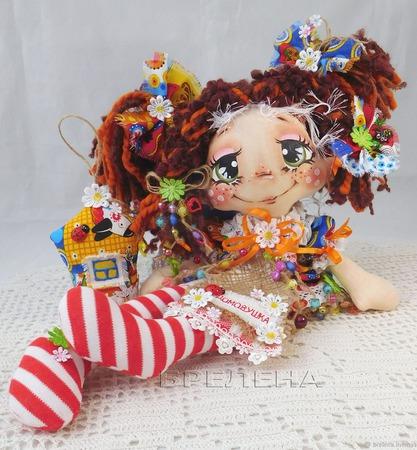 Текстильная кукла Домовушка Лапушка ручной работы на заказ