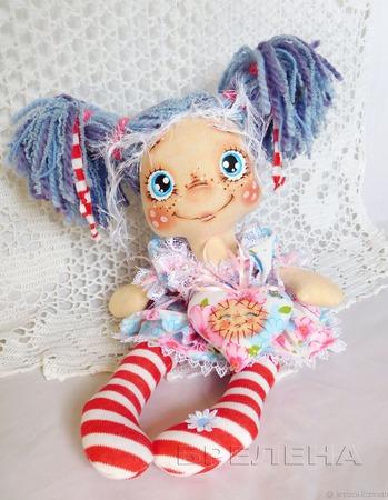 Текстильная кукла Милая Энни ручной работы на заказ