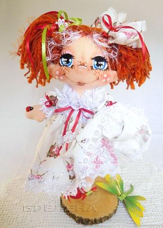 Текстильная кукла Маленькая принцесса ручной работы на заказ