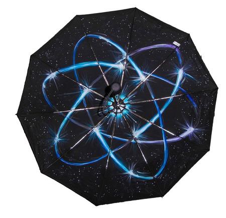 """Зонт с ручной росписью """"Космический"""" ручной работы на заказ"""