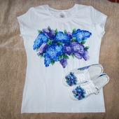 """Комплект: футболка и кеды  """"Сирень"""""""