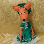 Игрушка Лиса в шляпе