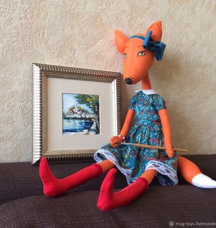 Игрушка интерьерная Лиса Алиса ручной работы на заказ