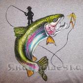 Футболка мужская в подарок рыбаку с рыбой