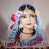 """Зонт женский с рисунком на заказ """"Богиня Радхарани"""""""