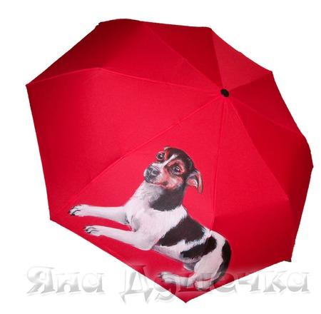 """Зонт с росписью на заказ с портретом собаки """"Той-терьер"""" ручной работы на заказ"""