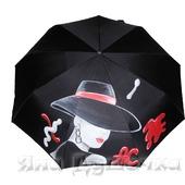 """Зонт с ручной росписью """"Модница"""""""