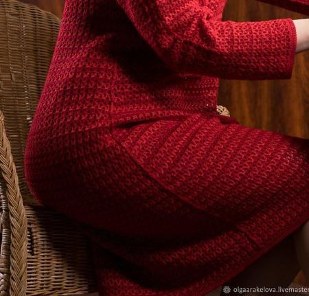 """Ажурное платье футляр а-ля Шанель """"Клэр"""" ручной работы на заказ"""