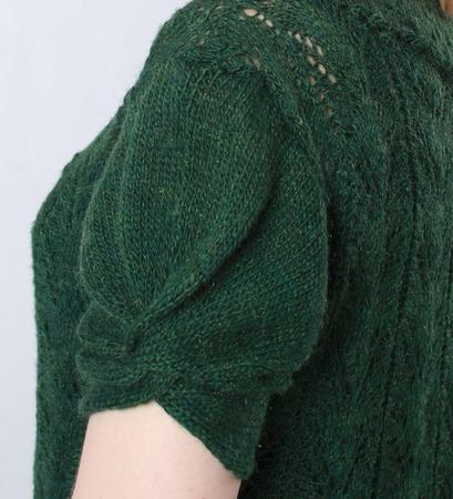 """Платье из мохера лесное, ажурное, зеленое """"Олеся"""" ручной работы на заказ"""