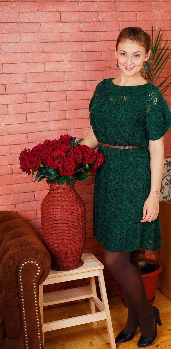 77df653a648 Платье из мохера лесное