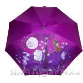 """Зонт с ручной росписью """"Муми тролли при луне"""""""
