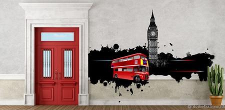 """Роспись стен """"Лондон"""" ручной работы на заказ"""