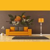 """Роспись стен в гостиной """"Апельсин"""""""