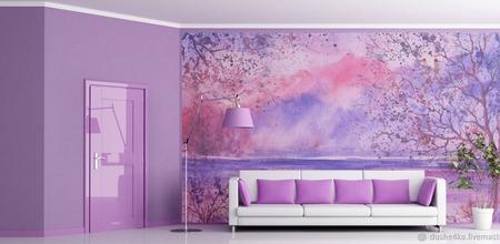 """Роспись стен в """"Пейзаж"""" ручной работы на заказ"""