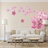 """Роспись стен в гостиной """"Цветы"""""""