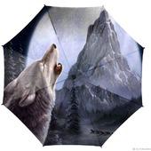 """Зонт складной с рисунком """"Волк и гора"""""""