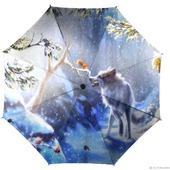 """Зонт женский с рисунком """"Волк и белка"""""""