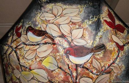"Зонт  ручной работы ""Китайская роспись"" ручной работы на заказ"