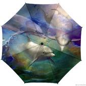 """Зонт с рисунком """"Игры дельфинов"""""""