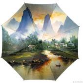 """Зонт с рисунком """"На берегу реки"""""""