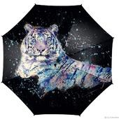 Зонт с рисунком Тигр и брызги света