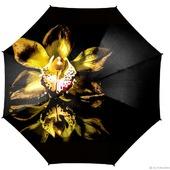 """Зонт женский с росписью """"Желтая орхидея"""""""