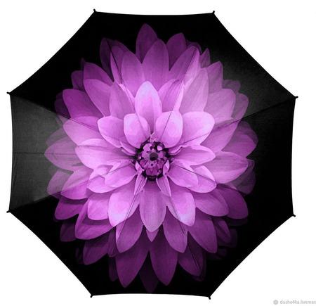 """Зонт женский с росписью """"Красота древнего мира"""" ручной работы на заказ"""