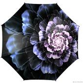 Зонт с росписью Стальной цветок