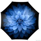 """Зонт с росписью """"Голубой цветок"""""""