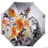 """Зонт с росписью """"Китайская живопись"""""""