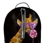 """Рюкзак женский кожаный с ручной росписью из кожи """"Жираф"""""""