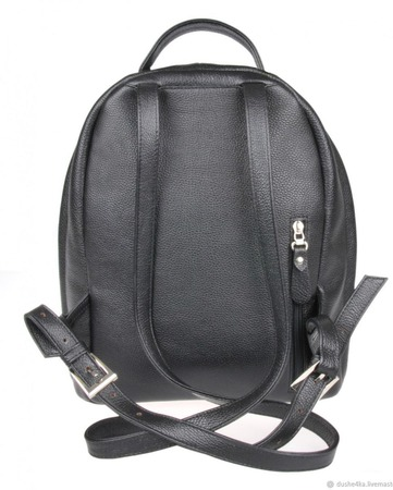 Рюкзак женский кожаный с ручной росписью из кожи Веселый кот ручной работы на заказ