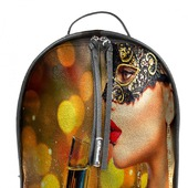 """Рюкзак женский кожаный с ручной росписью из кожи """"Маскарад"""""""