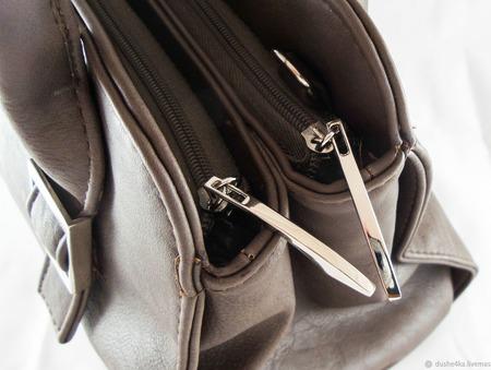 Коричневая сумка из искусственной кожи ручной работы ручной работы на заказ