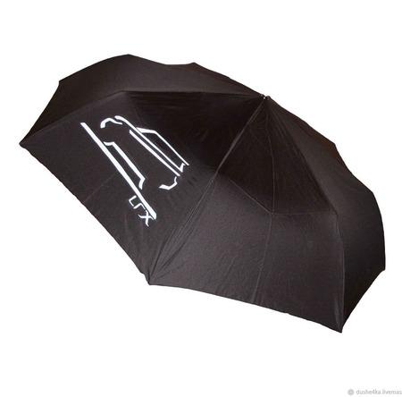 """Зонт мужской с ручной росписью """"Автомобиль Ренж Ровер"""" ручной работы на заказ"""