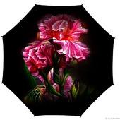 """Зонт с росписью """"Розовые ирисы"""""""