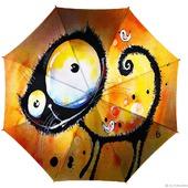 """Зонт  с ручной росписью """"Позитивный кот"""""""