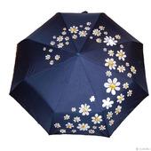 """Зонт  с ручной росписью """"Ромашки"""""""