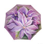 """Зонт с росписью """"Сиреневые цветы"""""""