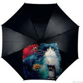 """Зонт с росписью """"Разноцветные коты"""""""